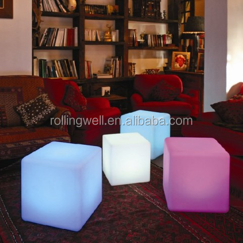 puzzle foam cube seat led cube furniture seat/led cube 3d