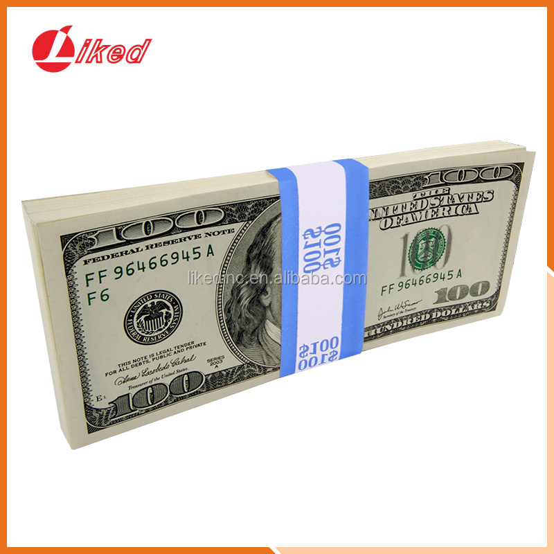 Currency Straps Bill Wrappers Money Bands 7.5 x 1.25 Inches