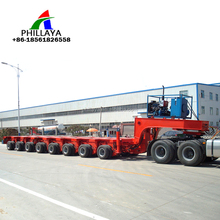 Heavy Duty Equipments 100-200 Tons Capacity Bridge Transport Multi Axle Hydraulic Modular Trailer with dolly available