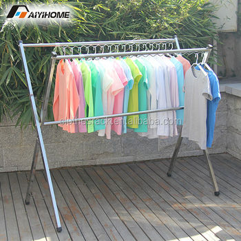 stainless steel heavy duty garment rackxshape outdoor clothes drying racks garment