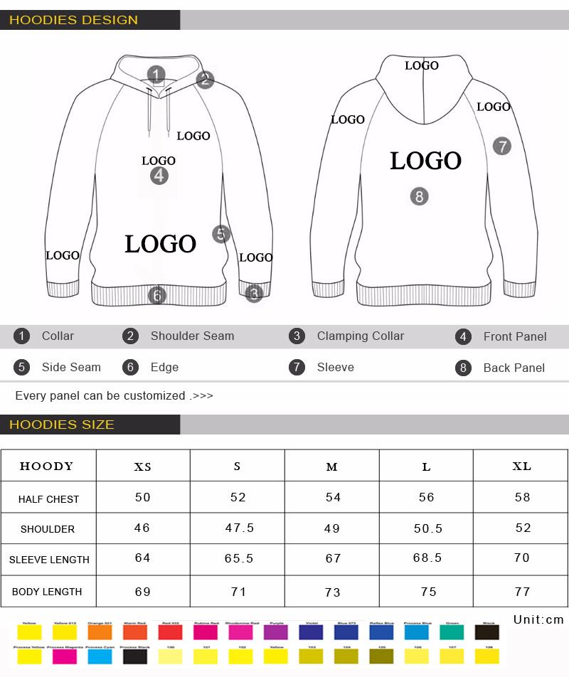 manufacturer printing logo custom oversized winter sports hoodies