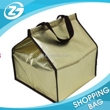 custom foldable non woven aluminum cake pizza ice bag