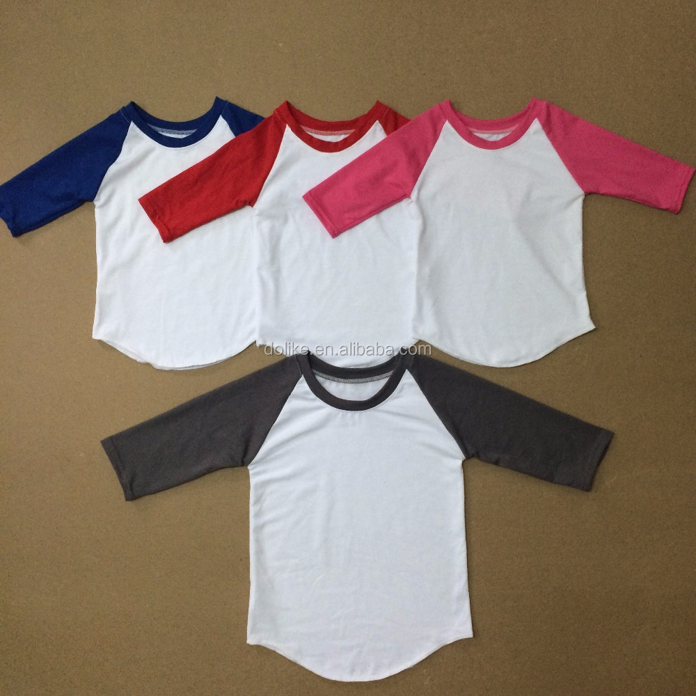 Wholesale Printed Icing Ruffle Girls Baseball Shirt Kids