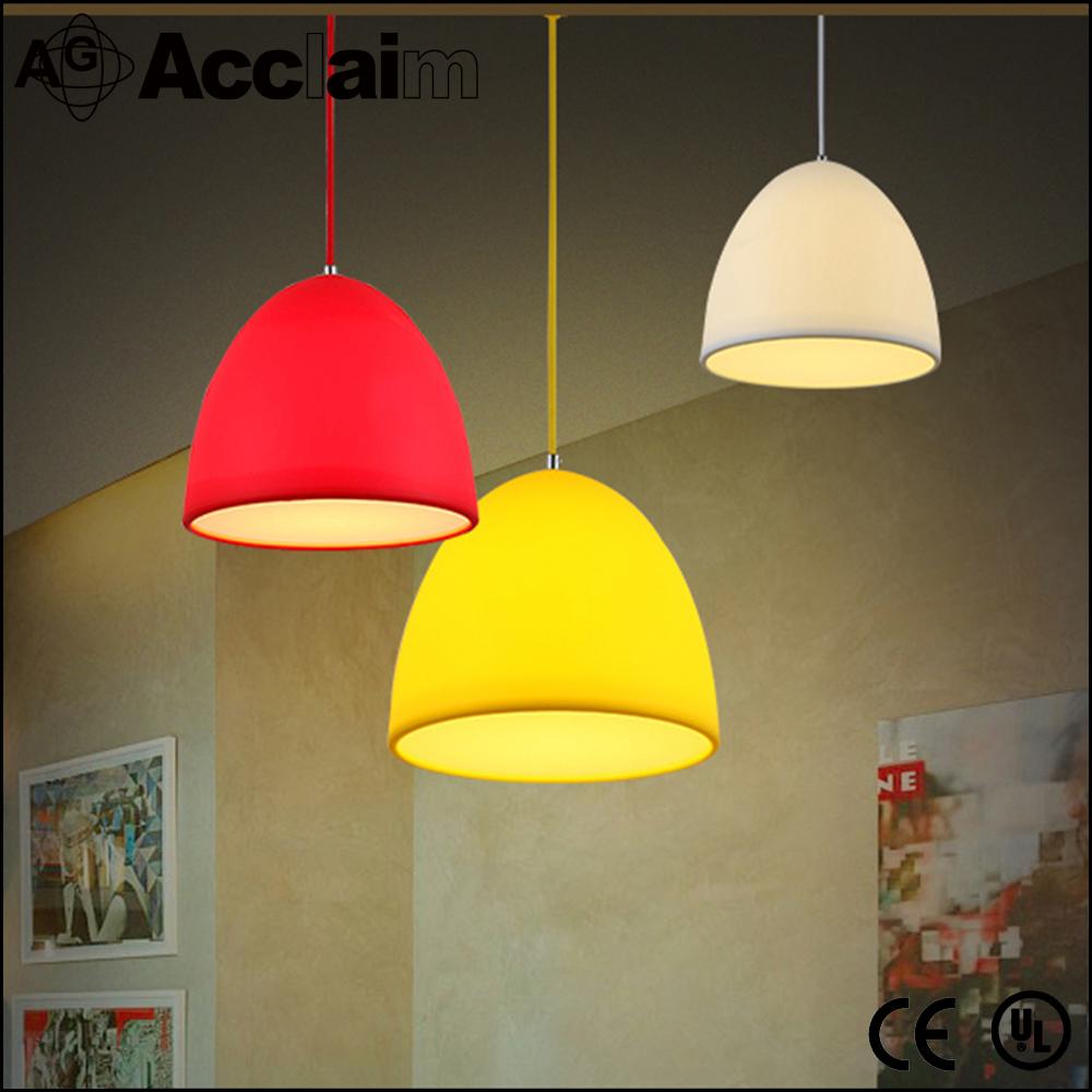 espiral de silicio luz restaurante lmpara pendiente moderna rojo o customed