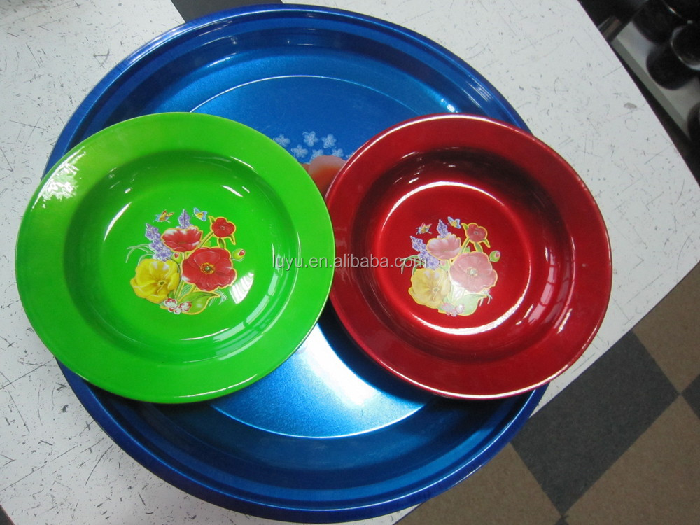 Bright color unbreakable plates dinnerware spray paint hard plastic plate & Bright Color Unbreakable Plates Dinnerware Spray Paint Hard Plastic ...