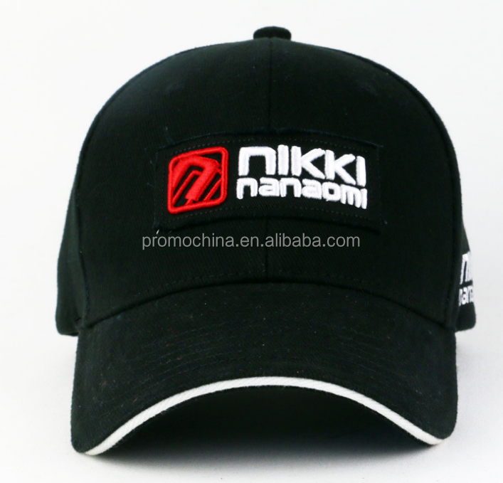 China Wholesale Customized Logo Colorful Cotton Cap Sandwich Cap For Sport