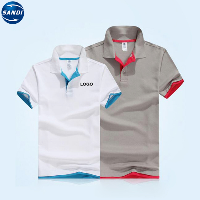 Custom white polo tshirt with logo