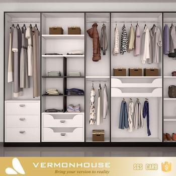 2018 Hangzhou Vermont Modern Design Hinged Mirror Doors Clothes Closet