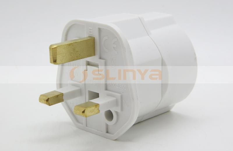 Uk Euro Plug Adapter Germany France To Uk Plug Adapter With Ground ...