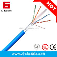 2017 factory top quality lowest price rubber cable ftp cat6 stp 305 meters for network
