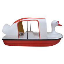 water park adult fiberglass swan pedal boat for 4 person