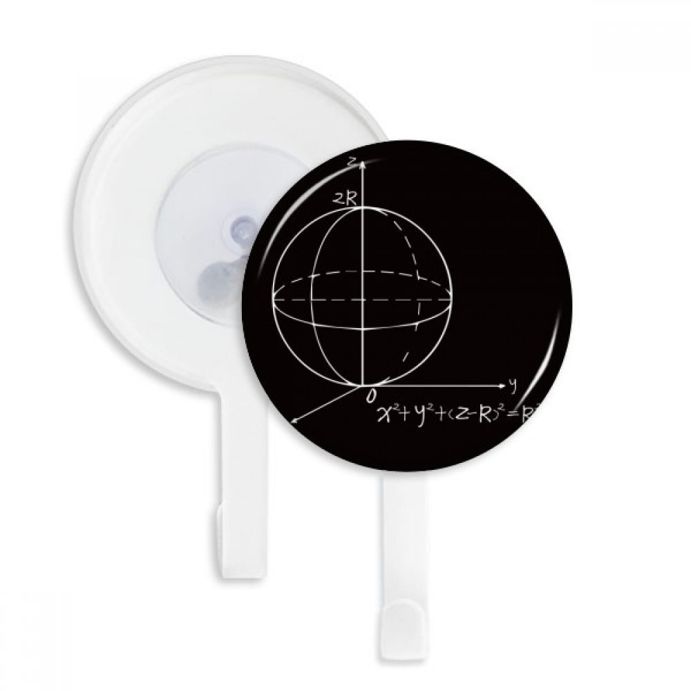 Math Kowledge Sphere Equation Sucker Suction Cup Hooks Plastic Bathroom Kitchen 5pcs Gift