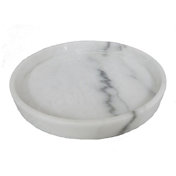 High Quality Kitchen Accessories Natural Carrara White Marble Tray