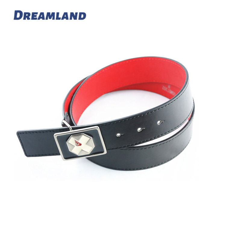 mirror finish fancy pu leather school belt for kids