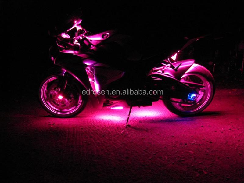 LED Motor Wheel Strip Light Kit Motorcycle Led Pod Lights With Remote