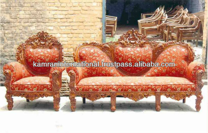 Indian Carved Sofa Set, Indian Carved Sofa Set Suppliers And Manufacturers  At Alibaba.com