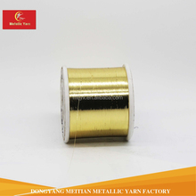 Gold and silver color M type metallic yarn lurex thread zari yarn for embroidery or knitting
