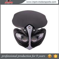 Street Fighter Black 12V LED Dirt Bike Offroad Headlight fairing for Yamaha