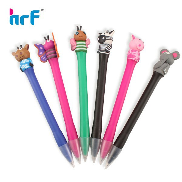 Adorable animal pen for kinds hand made;unique animal ball pen butterfly/elephant
