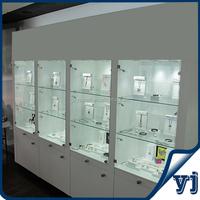 Wood Glass Living Room Showcase Design/MDF Design Wood Glass Showcase for Jewelry Exhibition and Sale