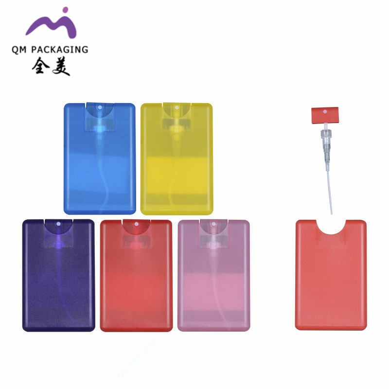 Hot selling cheap price custom 20ml plastic credit perfume card pocket card with fine <strong>spray</strong>