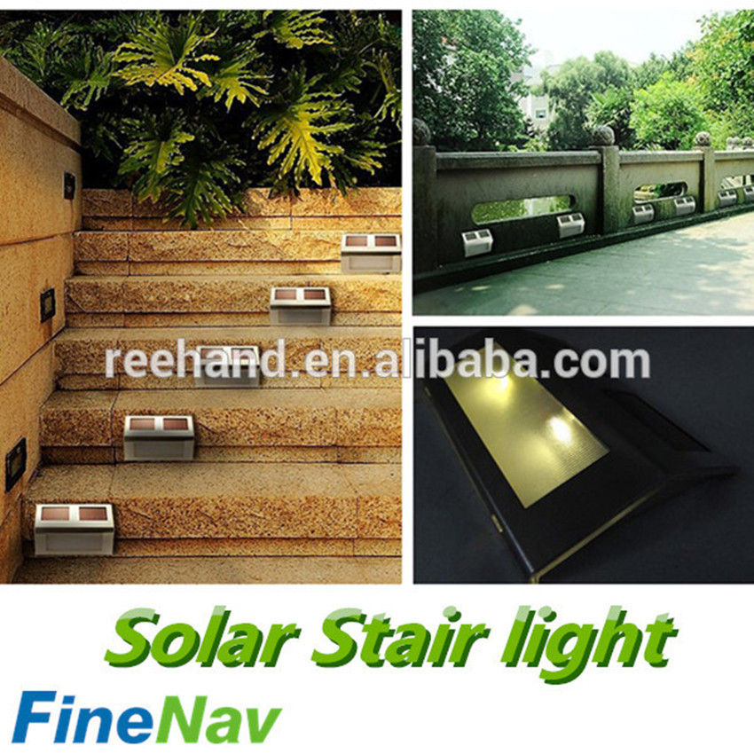 Waterproof Solar Wall Mounted Outdoor Stairs Light Portable Small Stair  Step Lights