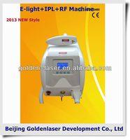 2013 New style E-light+IPL+RF machine www.golden-laser.org/ hair removal oil