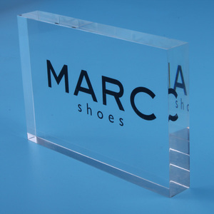 Clear Acrylic Brand Block Display Manufacturer