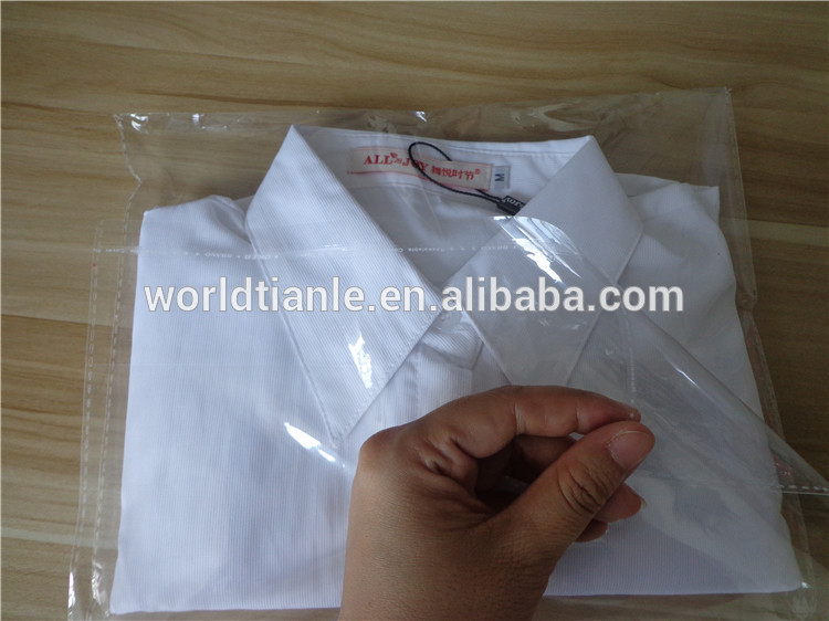 Opp kledingstuk plastic zak t shirt helder goedkope for Clear shirt packaging bags