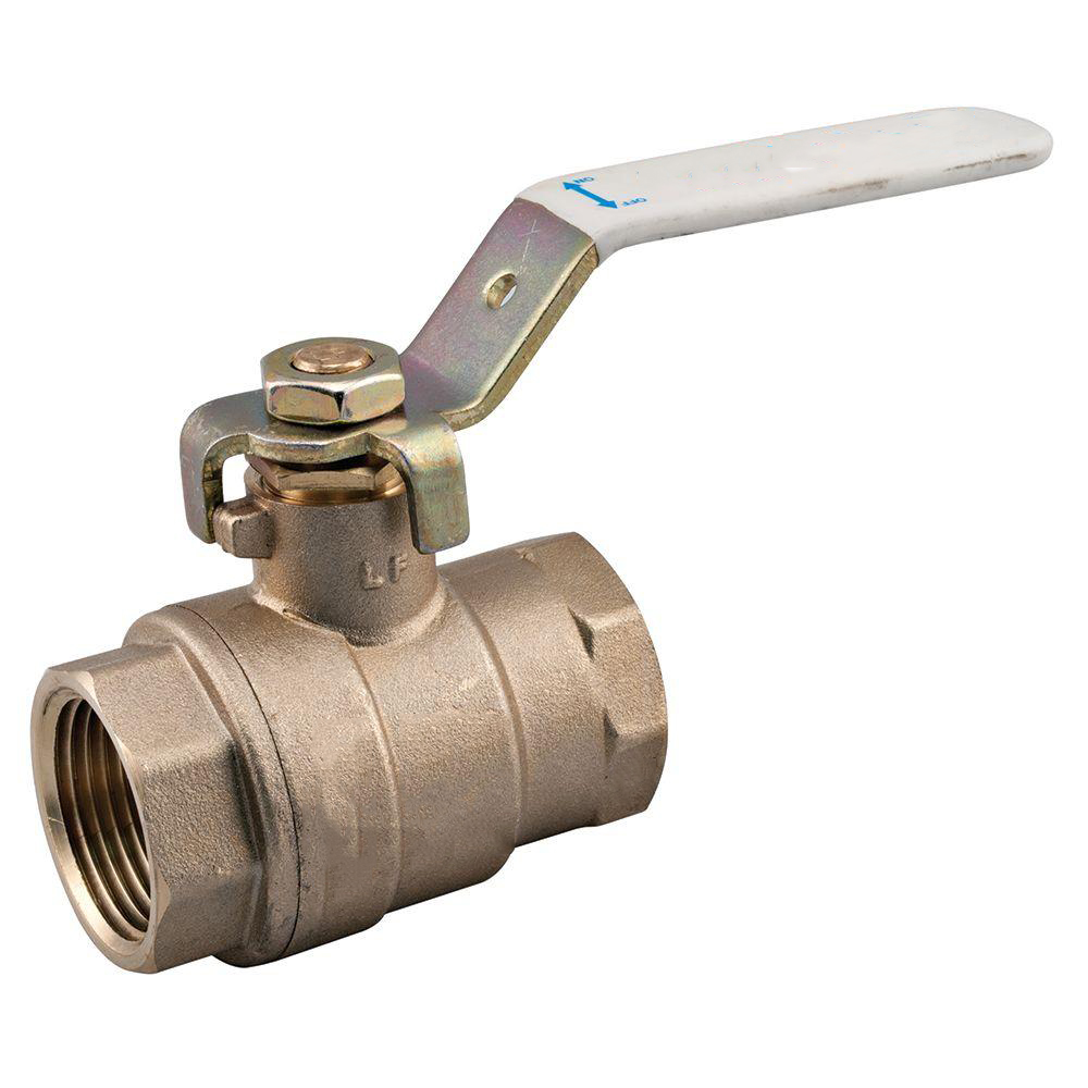 1 in Brass FIP x FIP Full Port Threaded Ball Valve for a Full Range of Liquids and Gases