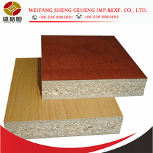 standard size 18mm particle board used in door with cheaper price