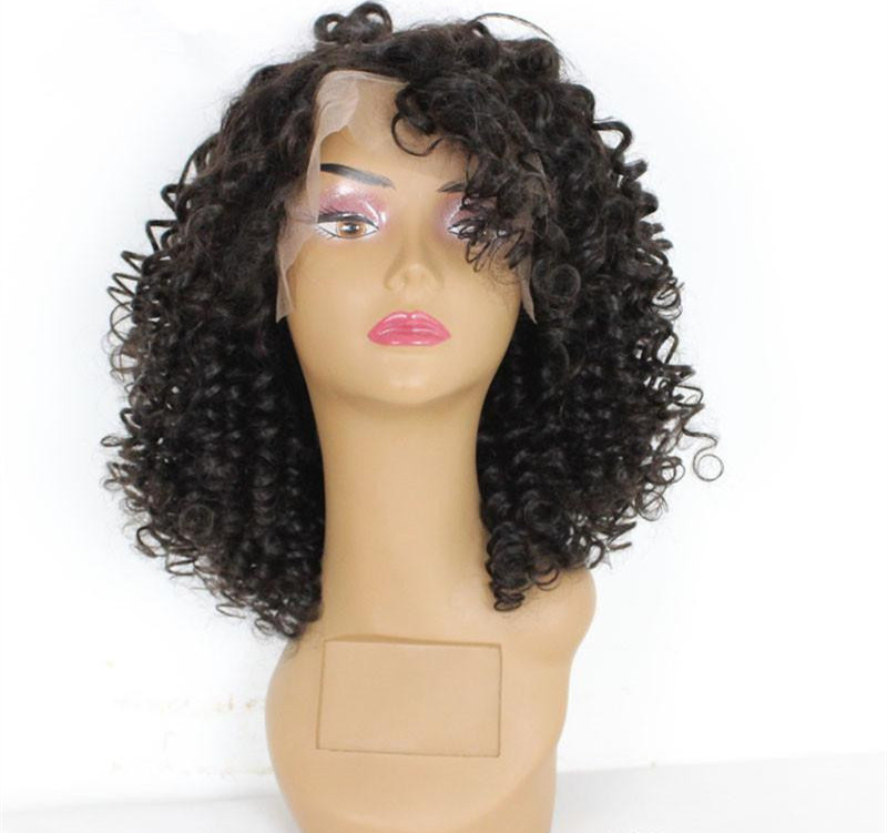 8-32 inch 6A high quality 100% Virgin Remy indian Human Hair afro kinky curl lace front wigs for black women
