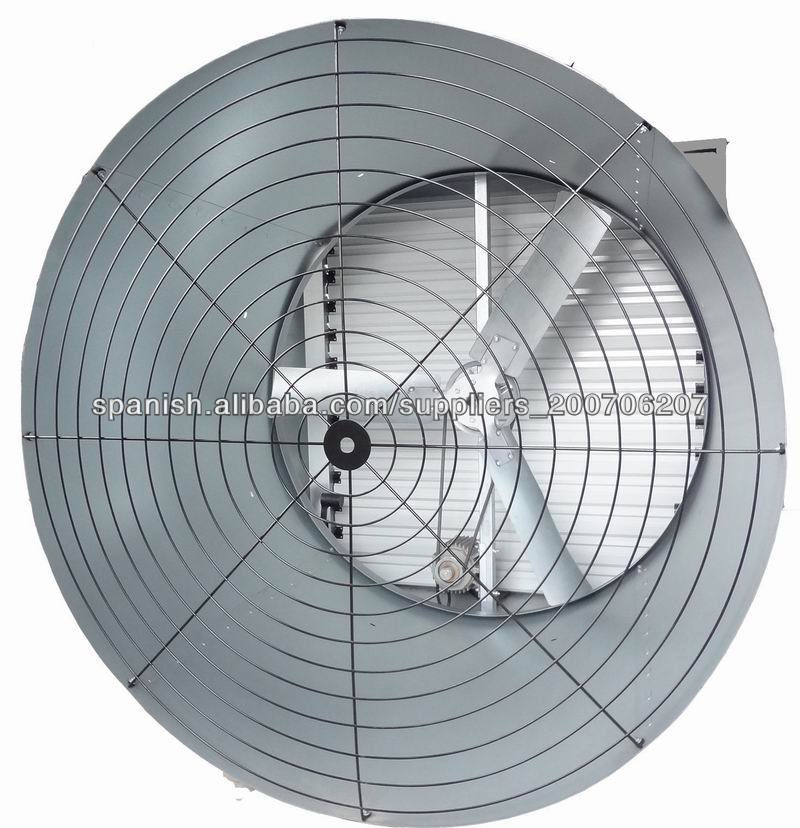 poultry cone fan with aluminium shutter and 3 blades cone fan /poultry farm / livestock/ workshop