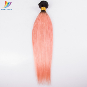 Ali trade assurance 22 inch pink color hair brazilian straight weave