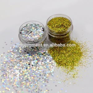 Holographic Chunky Glitter/ Colorful Non-toxic PET Craft Glitter Nail Glitter Powder