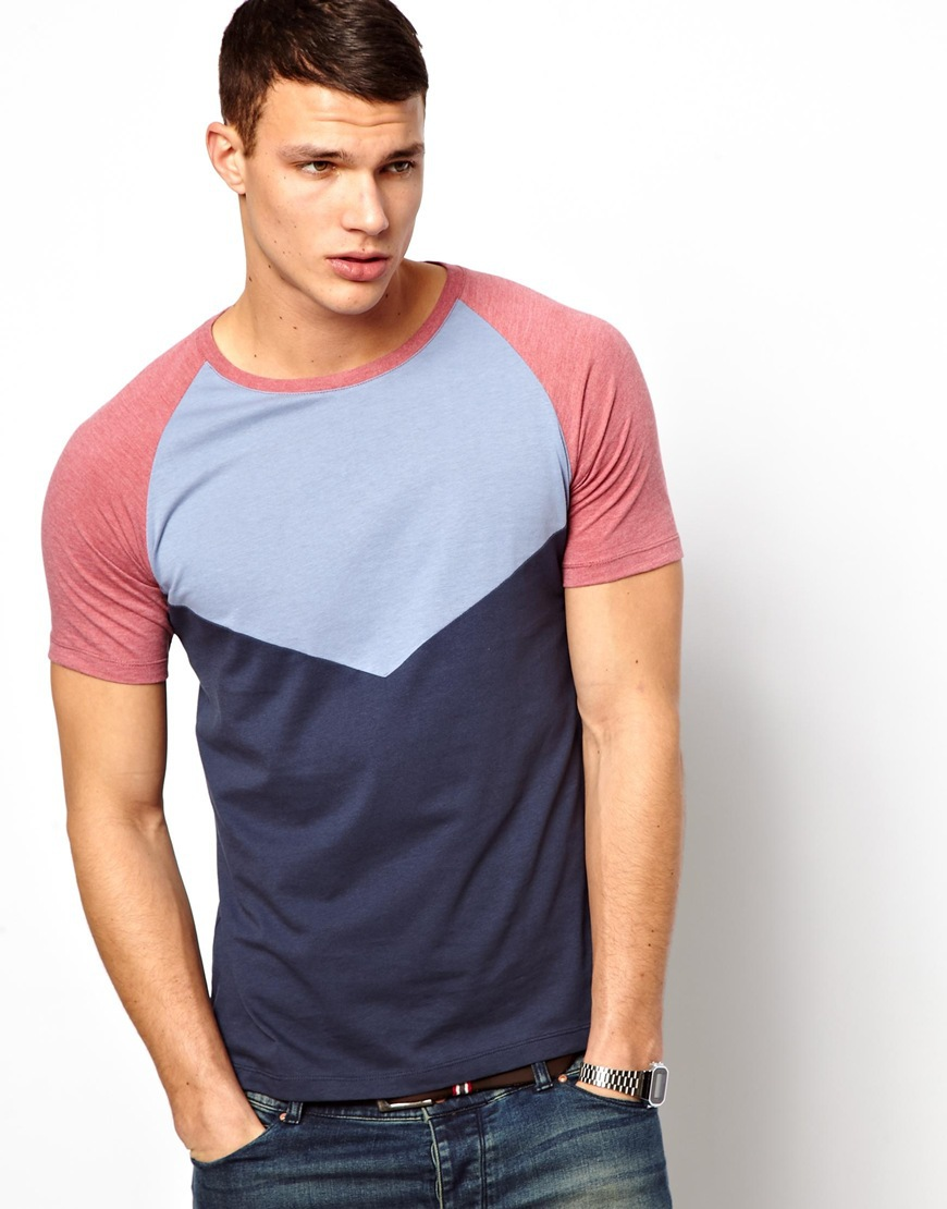 Color combination t shirt t shirts for men american style for Mens colored t shirts