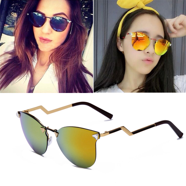 35f6ab21e8 New Fashion Vintage Style Metal frame Sunglasses Women So real Retro  Glasses Style Frame UV spectacle oculos de sol fminino