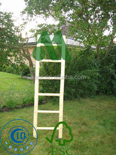 LW-LL01 Natural Bamboo Ladder, Decorative Bamboo Ladder,Bamboo Towel Ladder