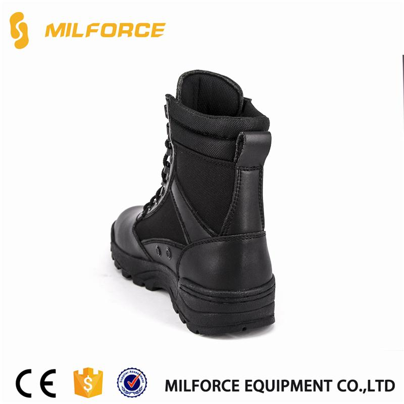 selected materials cheap genuine leather men's military boots with low price
