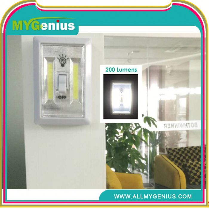 COB LED Night Light wall Switch AAA battery operation cob switch light COB LED Wireless Night Light With Switch ,amd75