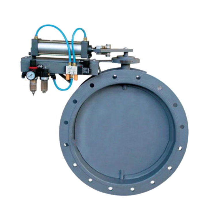 DN500 Besi Cor Ventilating Duct Single Lobe Pneumatic Butterfly Valve