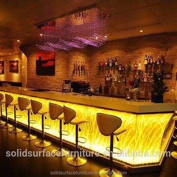 Custom High End Fancy Led Lighting Interior Design Cafe Bar Lighted Product