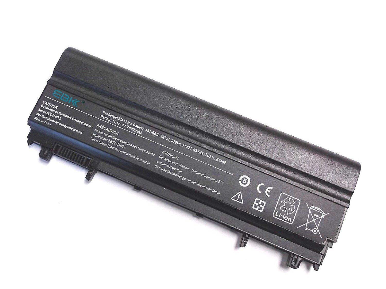 EBK® New Extended Life Laptop Battery for Dell Latitude E5540 E5440 Latitude 14 15 Compatible P/N 312-1351 VJXMC VVONF N5YH9 0M7T5F 0K8HC 1N9C0 7W6K0 F49WX NVWGM CXF66 WGCW6 [7800mah 9-Cell]