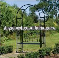 mira para la venta el ms rentable hierro forjado jardn arco acero escalada rose