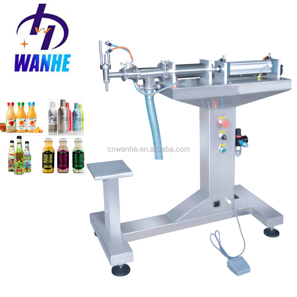TYGZ-500 semi automatic paste water vertical single head filler milk oils ointment honey pneumatic liquid filling machine