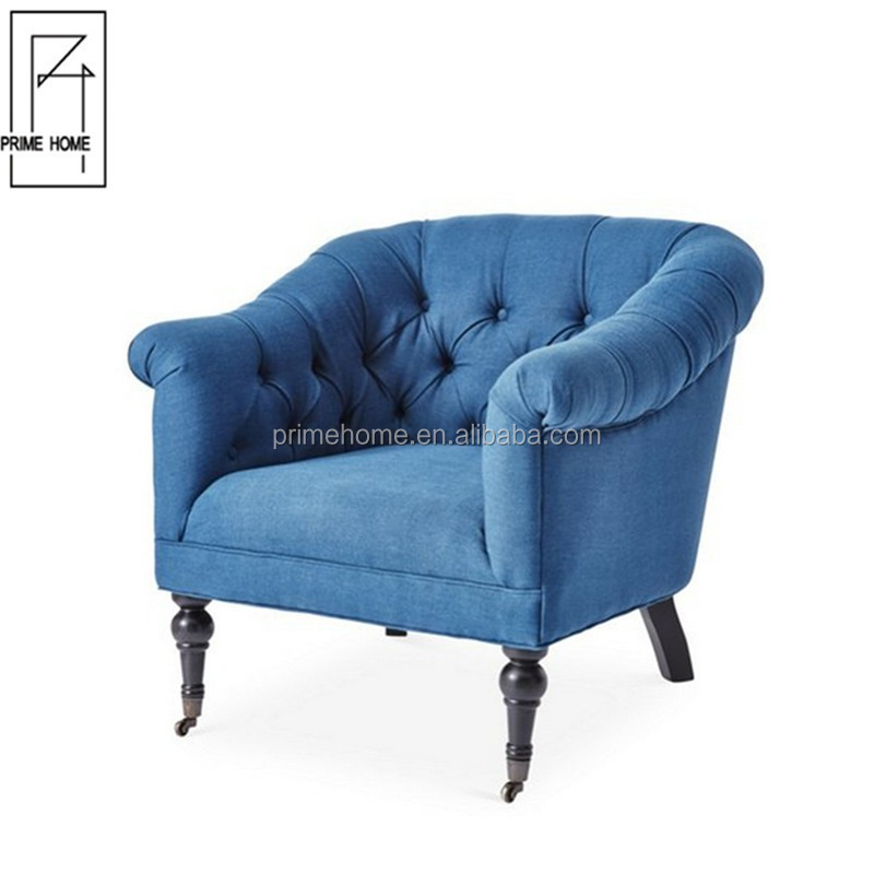 Hot Selling French Style Lazy Relax Bedroom Sofa Chair