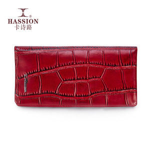 Guangzhou HASSION Brand Leisure Long Handmade Leather Wallet for Women