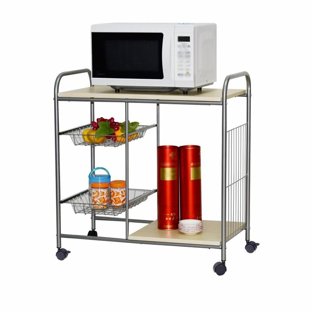 LQQGXL Storage and organization Shelves Kitchen Shelves Storage Racks Rectangular Removable Carts Shelves Wooden Shelves Shelves Carts Carts 76x40x78 cm