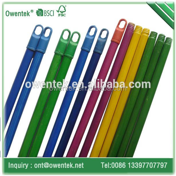 Chinese great sweeping tools wood broom mopstick with pvc coated
