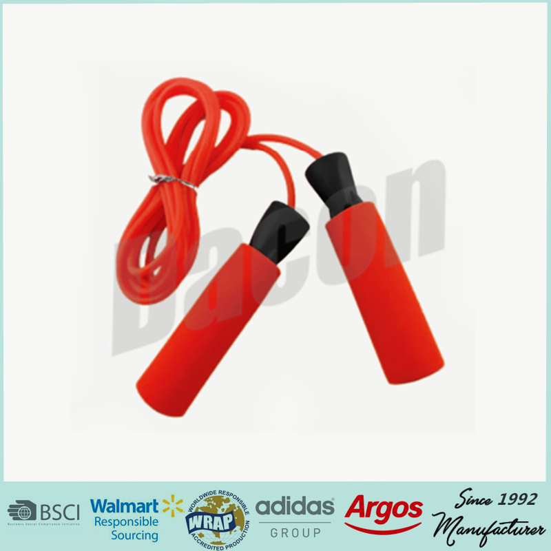 hot sale Eco-friendly used pvc jump rope with foam handle